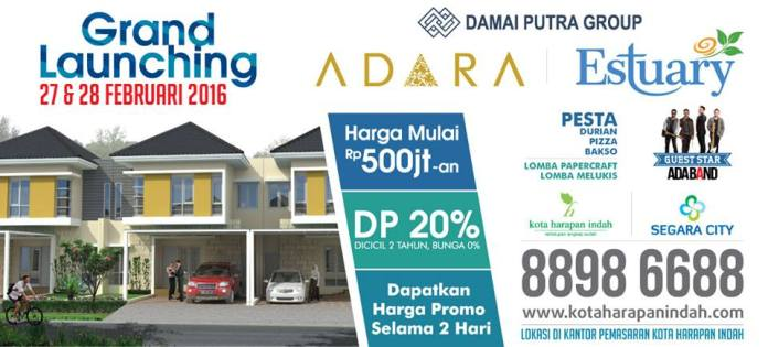 Bekasi Property Grand Launching Kota Harapan Indah 27-28 Februari 2016