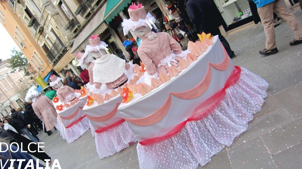 Venezia cakes during the famous carnival