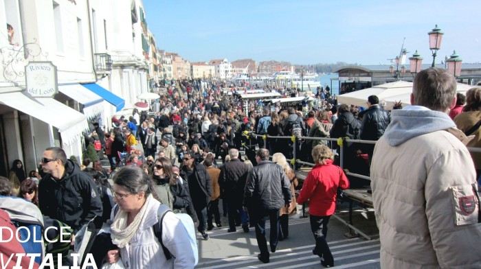Venezia near Grand Canal during carnival time