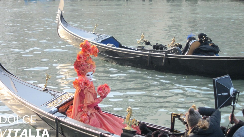 Canal Grande in Venezia during annual famous carnival