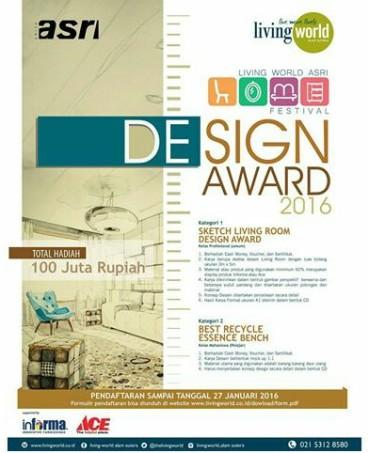 Jakarta Design Award 1-27 Januari 2016