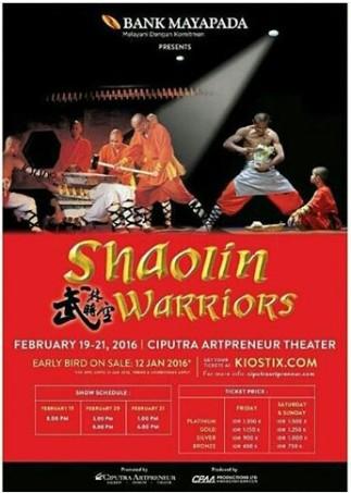 Jakarta Shaolin & Warriors Ciputra 19-21 Februari 2016