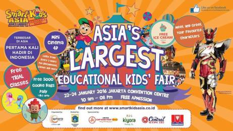 Jakarta Smart Kids Fair 22-24 Januari 2016