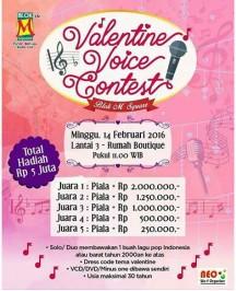 Jakarta Valentine Voice Contest 14 Februari 2016