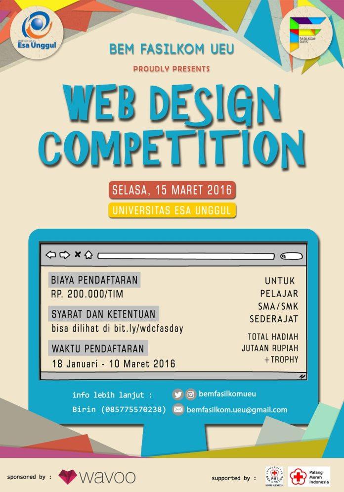 Jakarta Web Design Competition Fasdays 12 Maret 2016