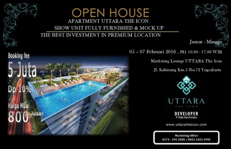 Yogyakarta Property Open House UTTARA The Icon 5-7 Februari 2016