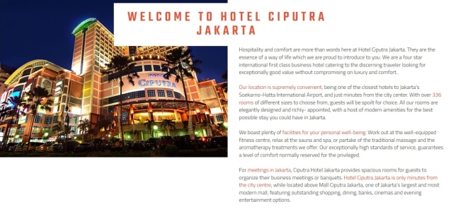 Ciputra Hotel Jakarta Barat