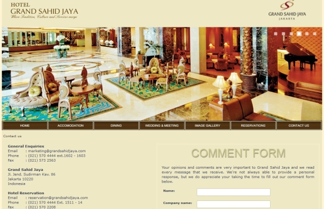 Grand Sahid Jaya Hotel Jakarta Pusat