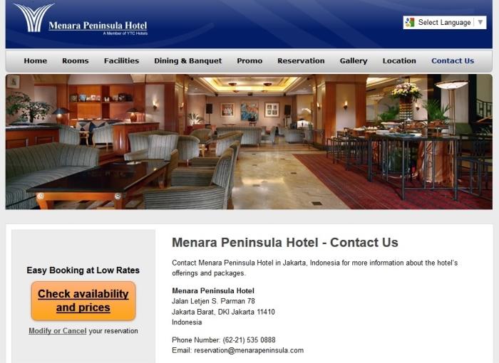 Menara Peninsula Hotel Jakarta Barat