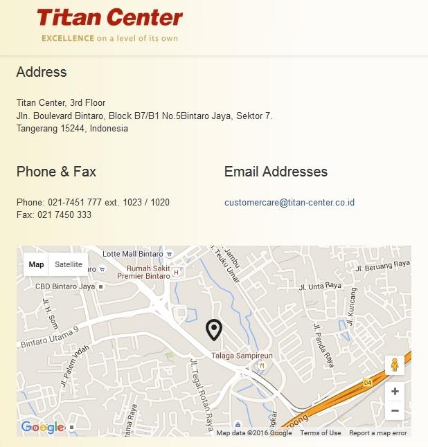 Titan Center Bintaro Tangerang